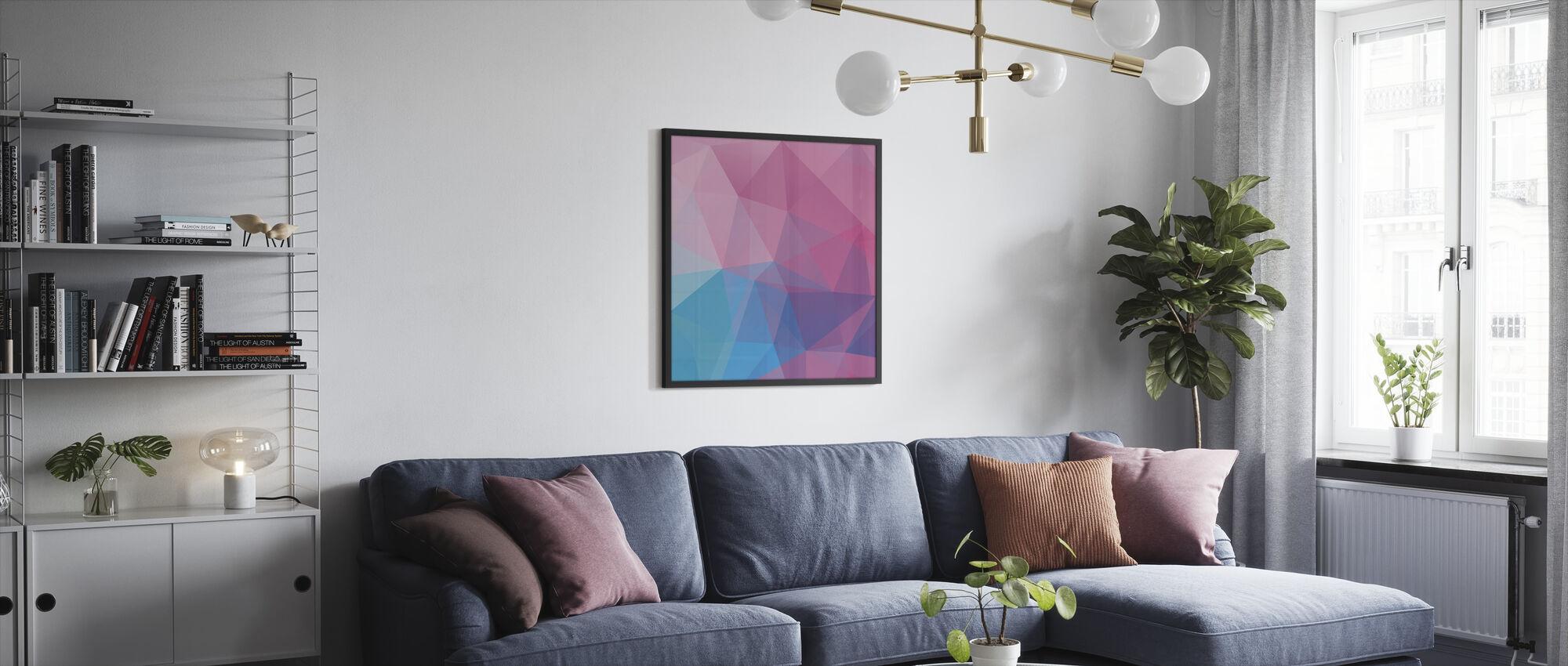 Polygonale pasteller - Innrammet bilde - Stue