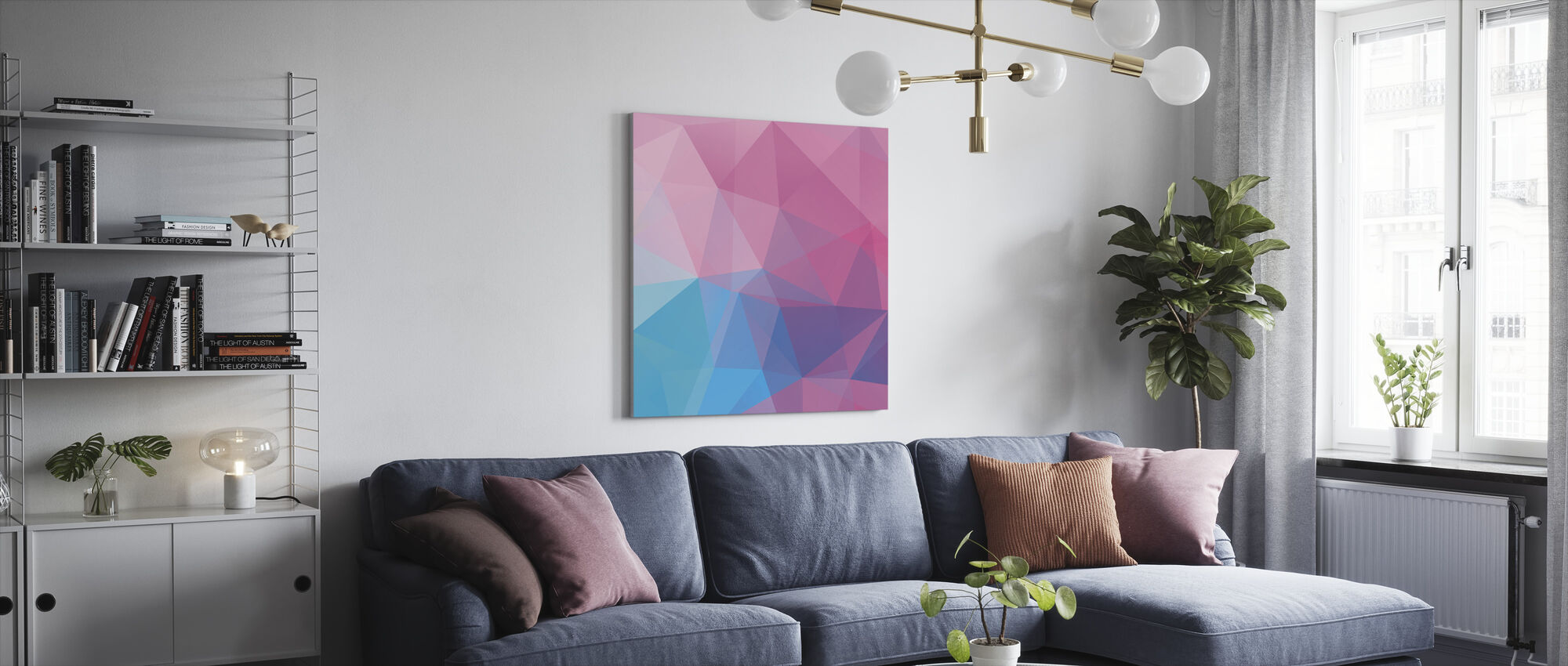 Polygonal Pastels - Canvas print - Living Room