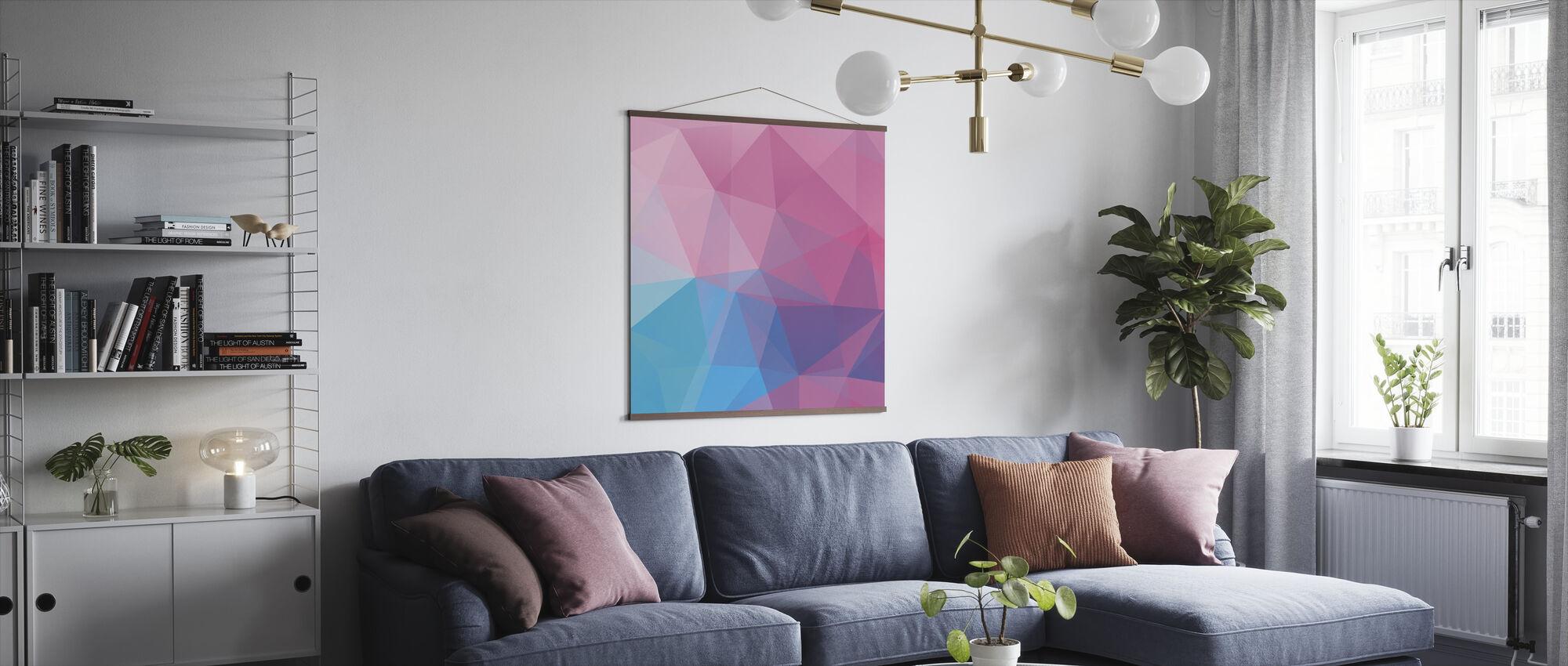 Polygonale pasteller - Plakat - Stue