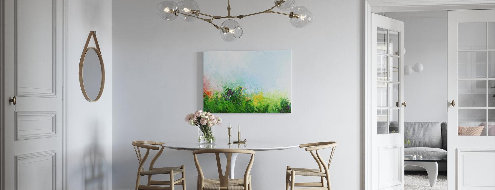 Polygonale trær i høstfarger - Lerretsbilde - Kjøkken