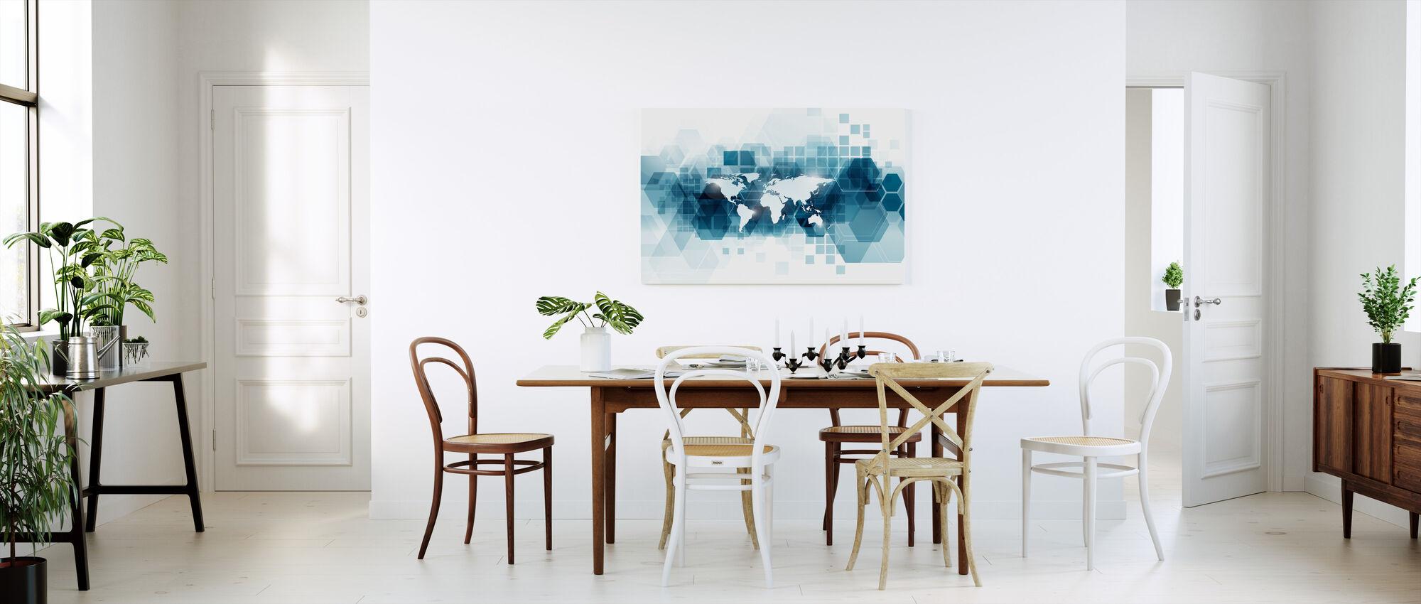 Monde vectoriel transparent - Impression sur toile - Cuisine