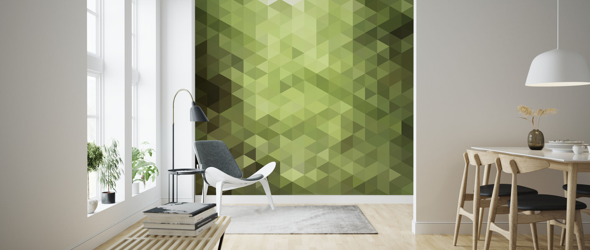 Triangle Polygons Art Pattern - Wallpaper - Living Room