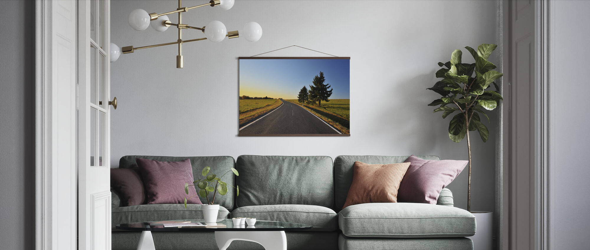 Bavarian Country Road - Poster - Living Room