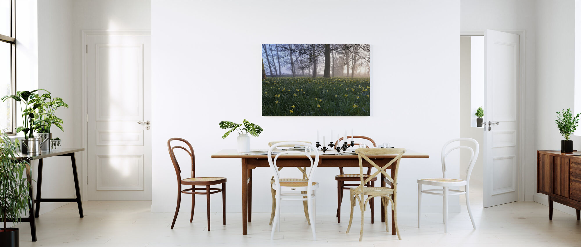 Daffodils in Early Morning - Canvas print - Kitchen