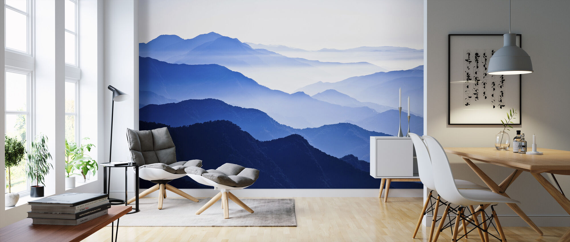 Endlessly Rising Peaks of Mountains - Wallpaper - Living Room