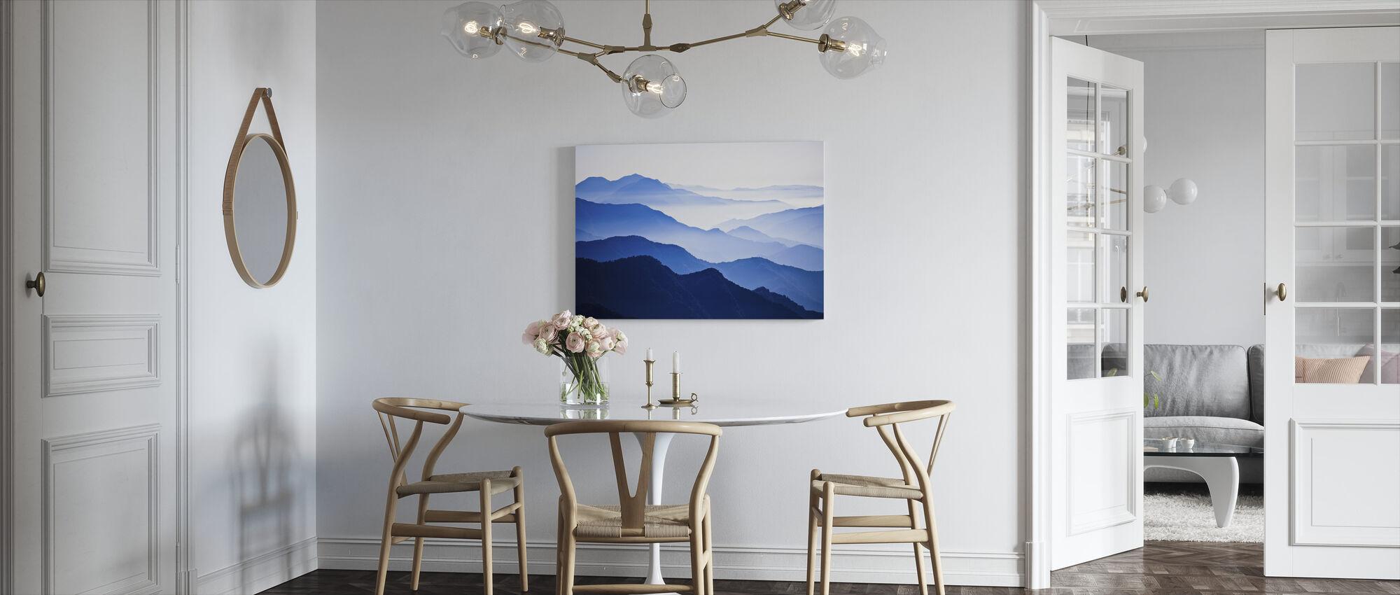 Oändligt stigande bergstoppar - Canvastavla - Kök