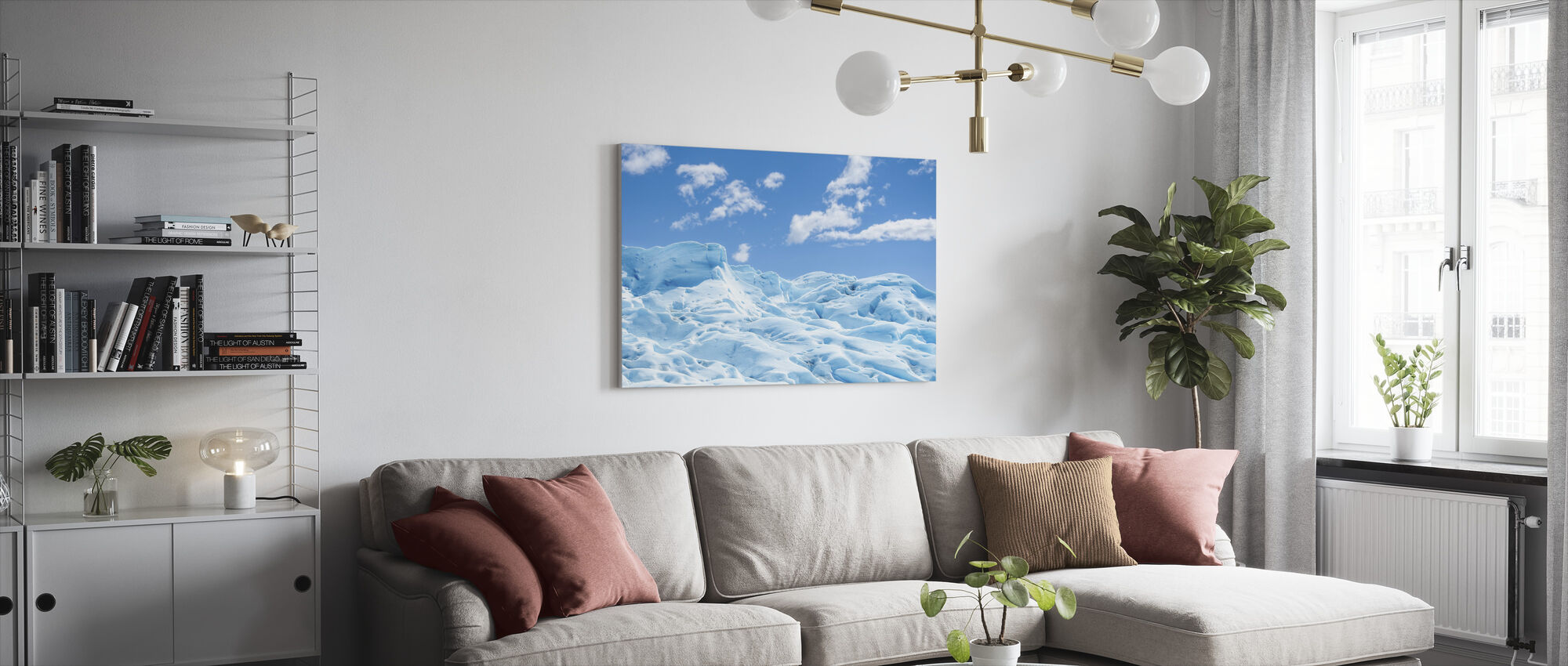 Bevroren grond - Canvas print - Woonkamer