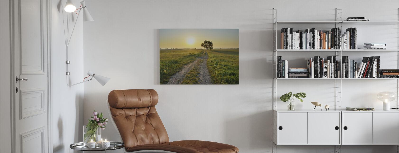 Inspirerande väg - Canvastavla - Vardagsrum