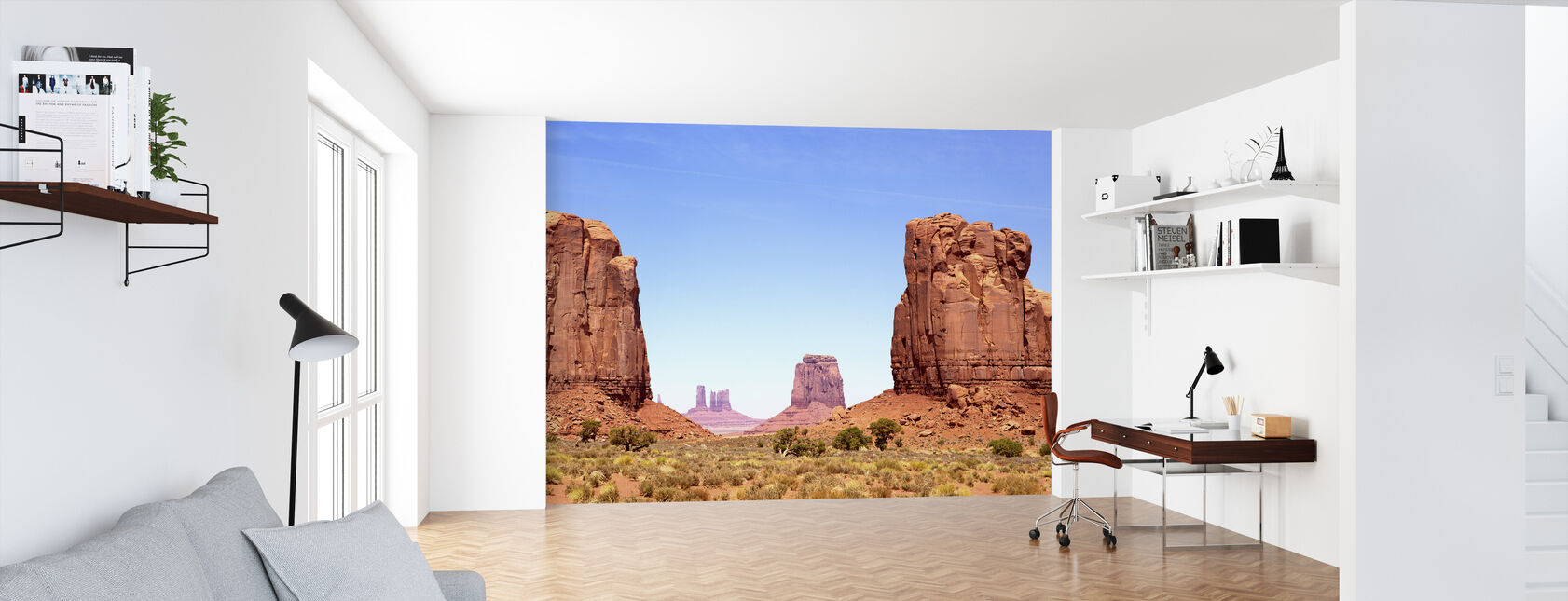North Window of Monument Valley - Wallpaper - Office