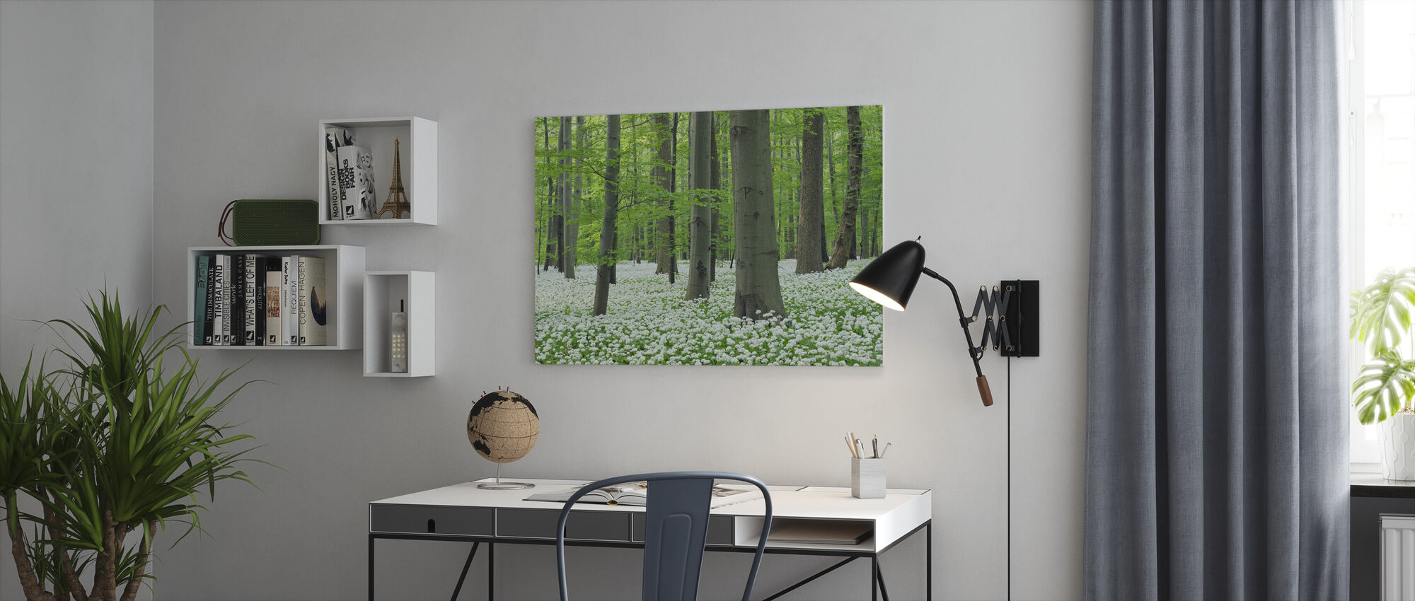 Ramsons Forest - Canvas print - Office