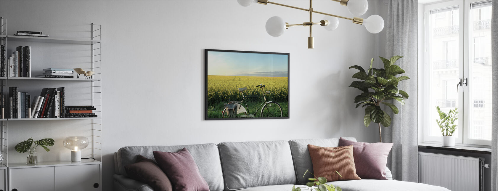 The End of the Lane - Framed print - Living Room