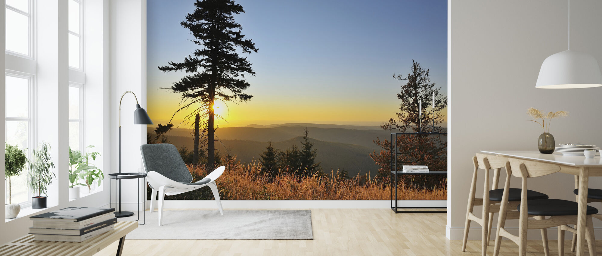 Thuringian Forest at Sunset - Wallpaper - Living Room