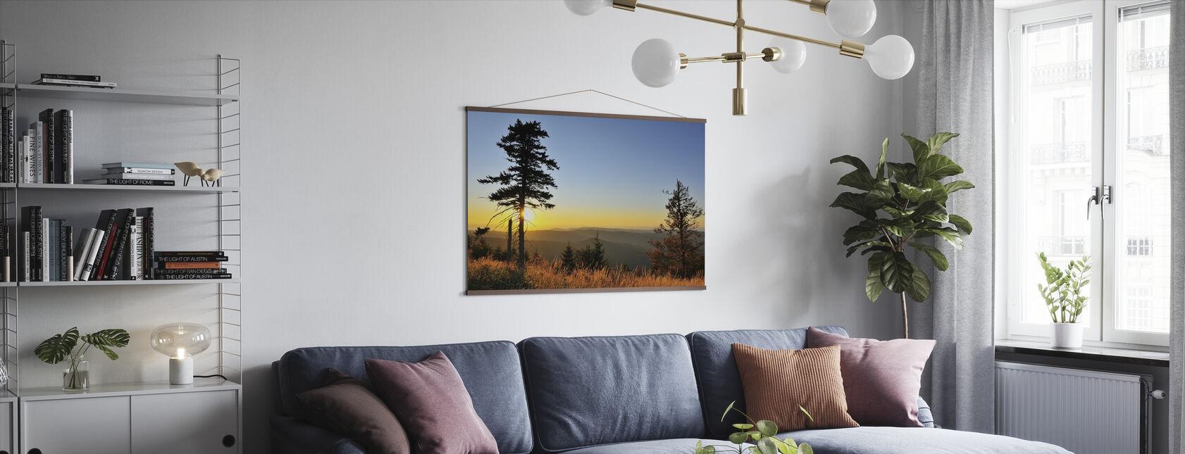 Thüringenin metsä auringonlaskun aikaan - Juliste - Olohuone