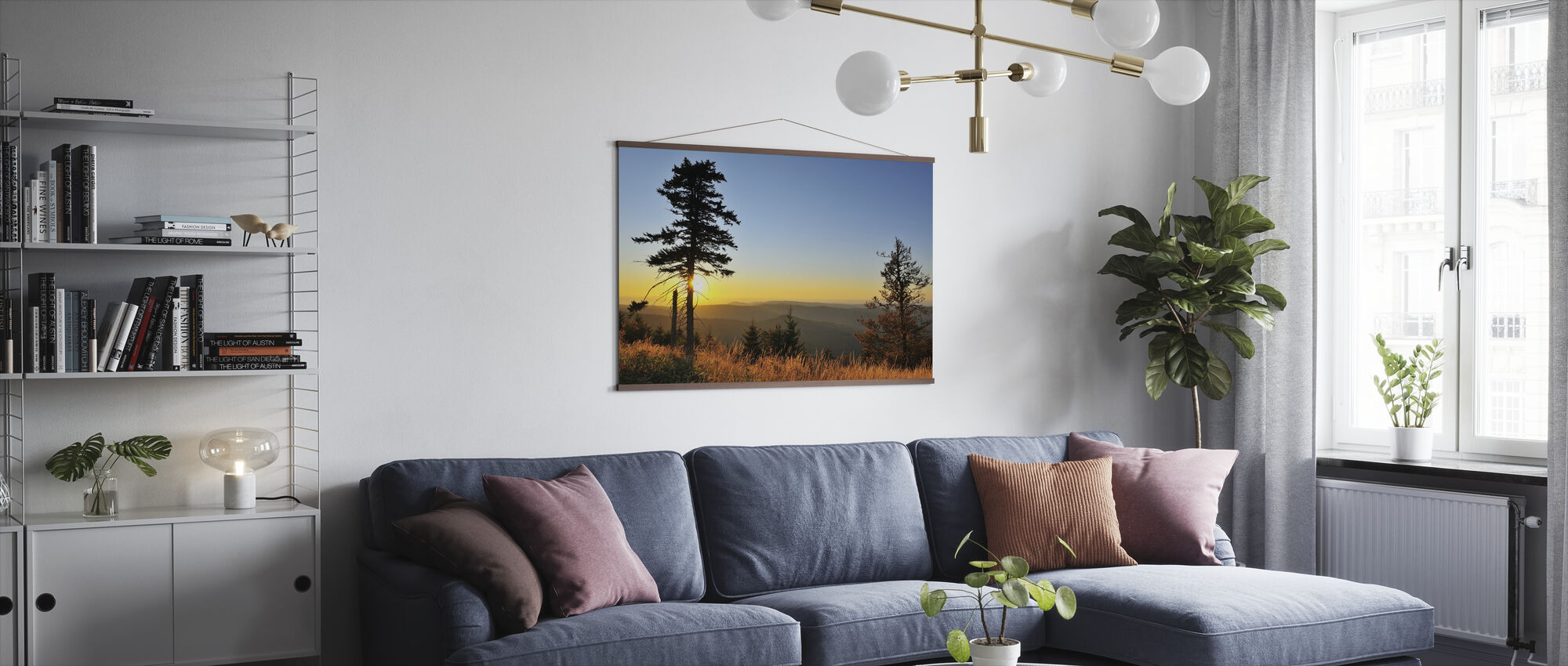 Thuringian Forest at Sunset - Poster - Living Room