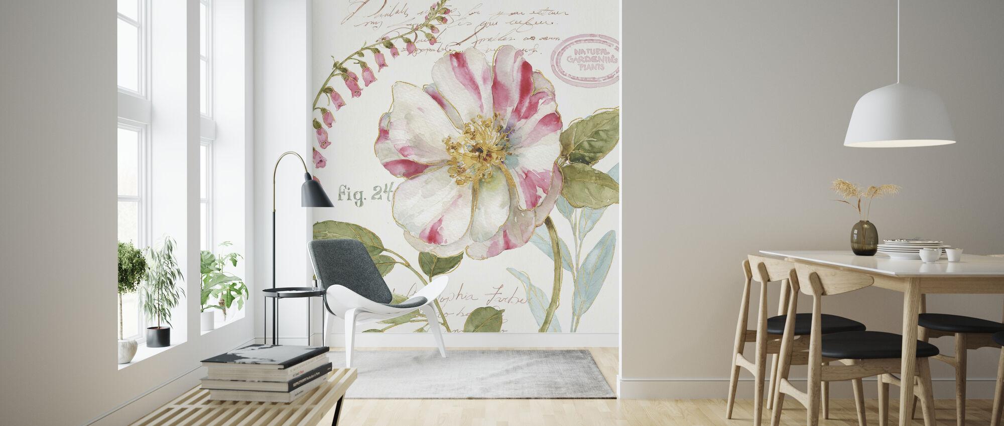 Candy Cane Gestreifte Blume - Tapete - Wohnzimmer