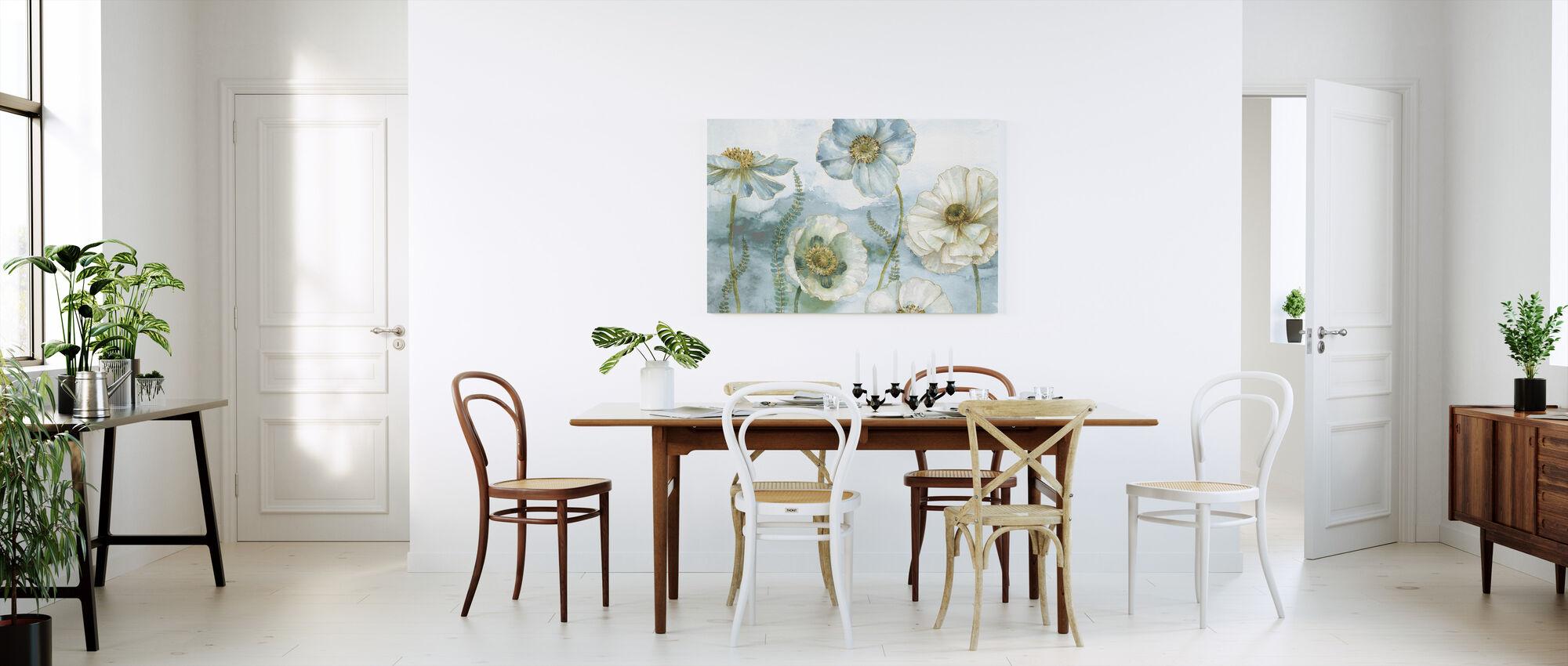 Mit drivhus Blomster - Billede på lærred - Køkken