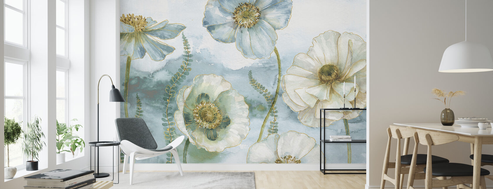 Mina Växthus Blommor - Tapet - Vardagsrum