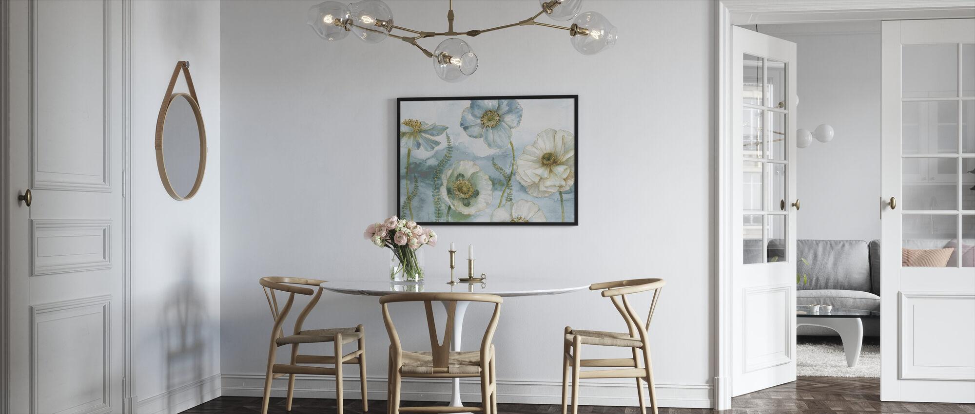 Oma Kasvihuone Kukkia - Kehystetty kuva - Keittiö