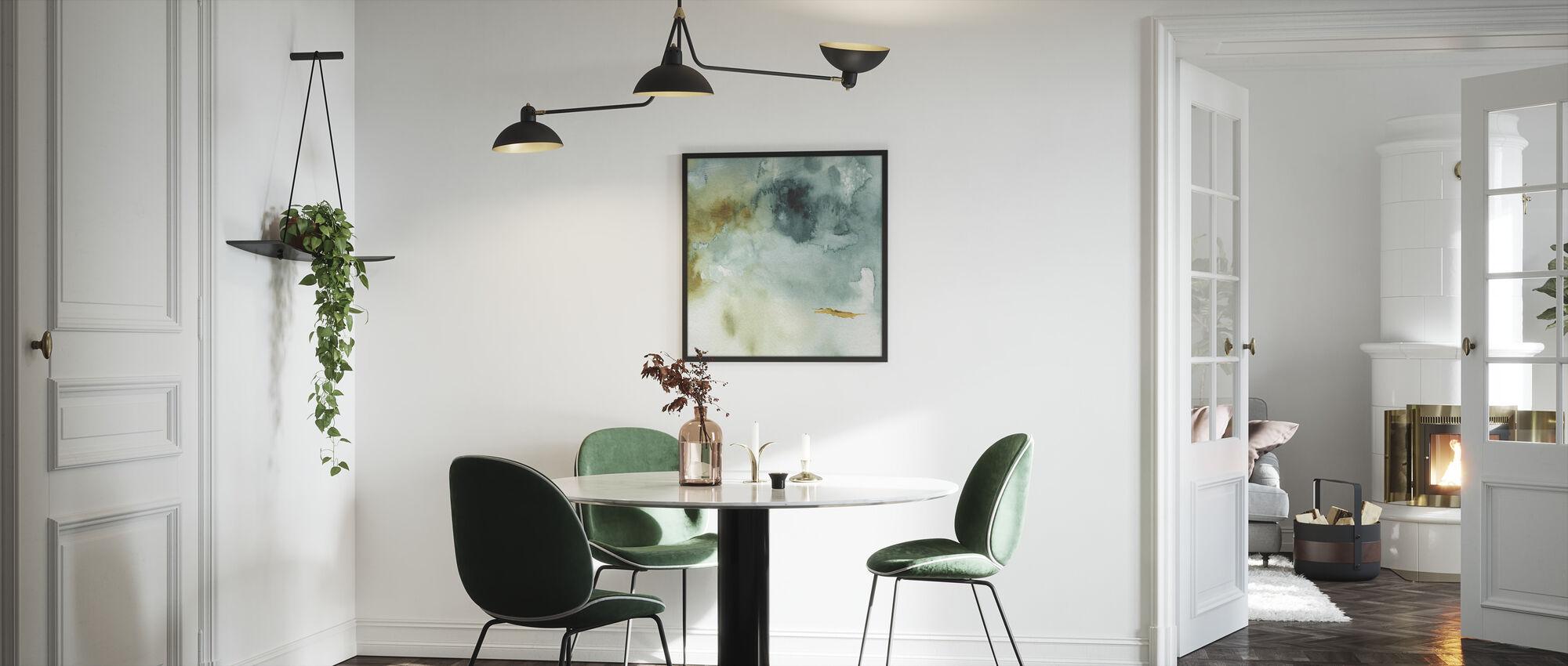 Mijn broeikas aquarel 2 - Ingelijste print - Keuken