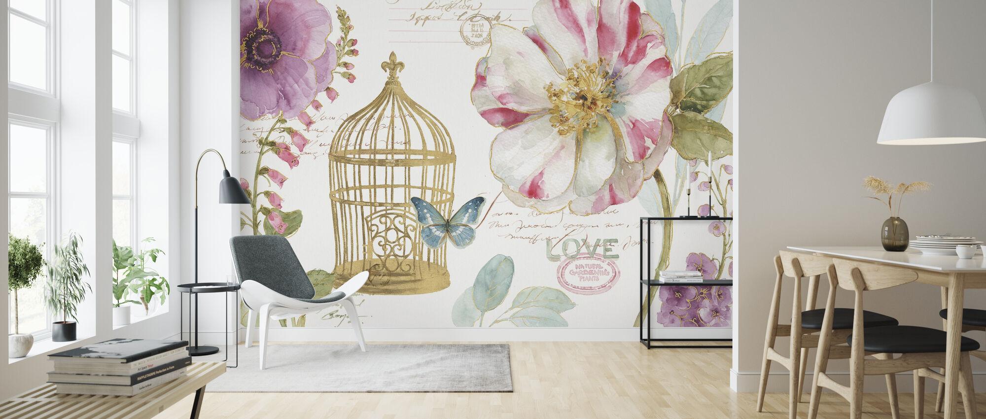Rainbow Seeds Vogelkäfig - Tapete - Wohnzimmer