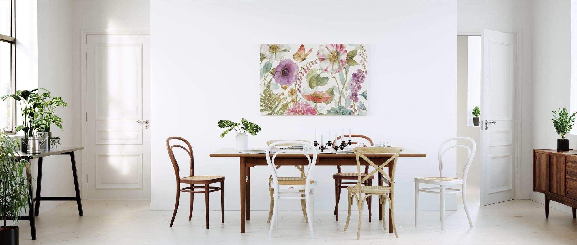 Regnbåge Frön Blommor 1 - Canvastavla - Kök