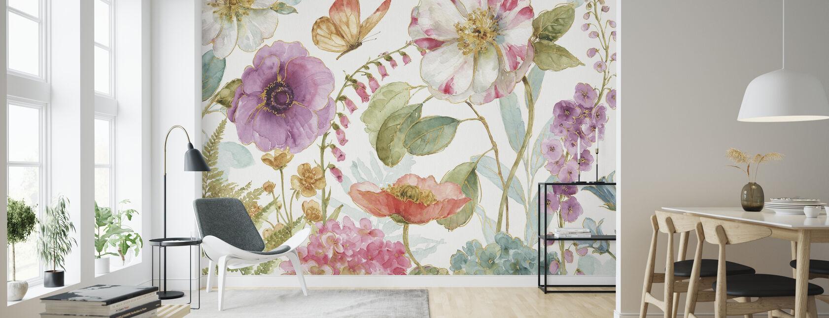 Rainbow Seeds Blumen 1 - Tapete - Wohnzimmer