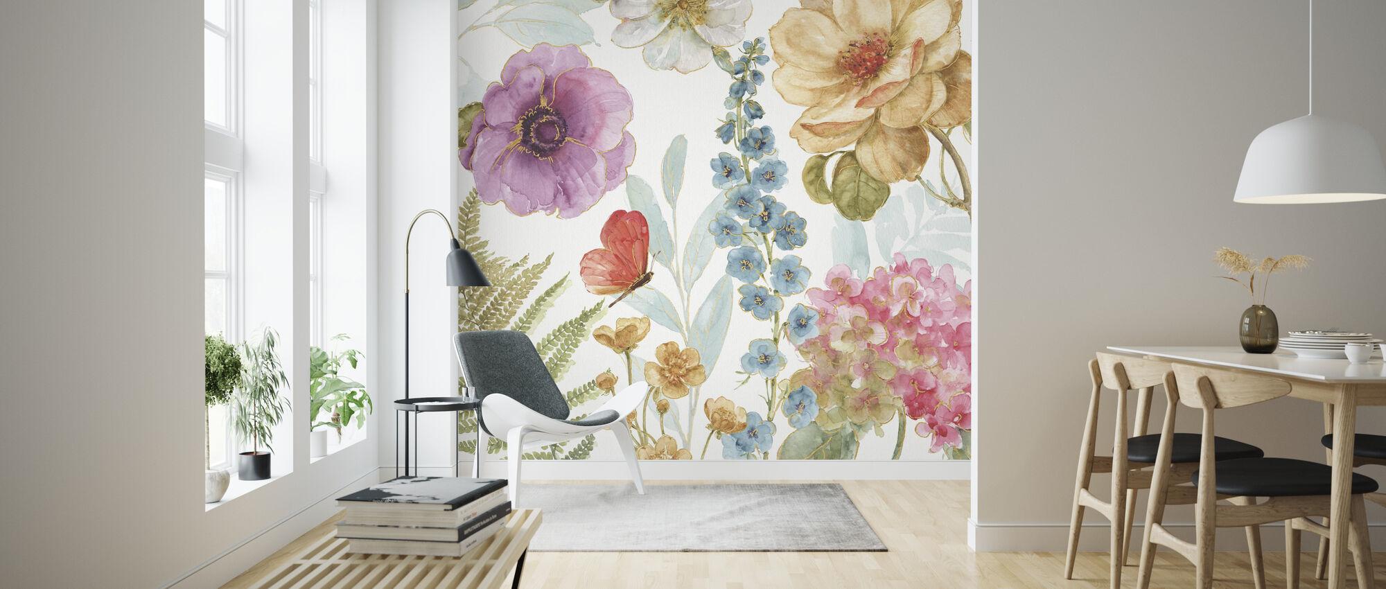 Rainbow Seeds Flowers 3 - Wallpaper - Living Room