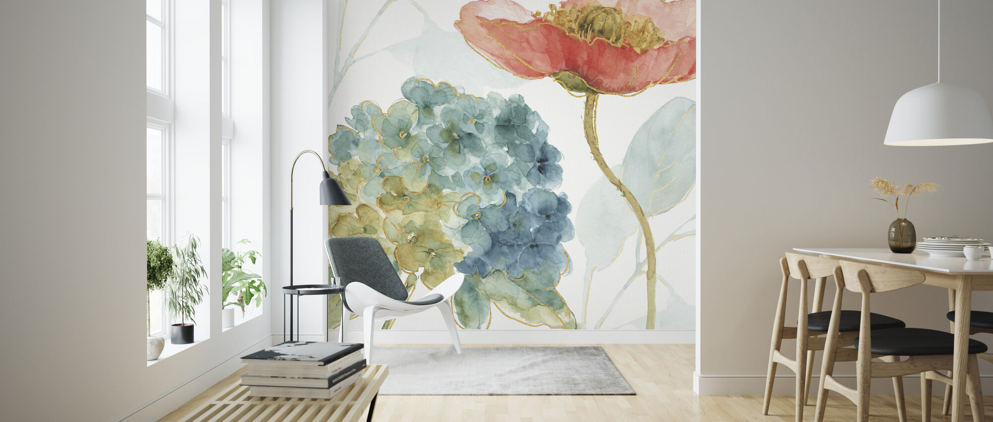 Rainbow Seeds Flowers 4 - Wallpaper - Living Room