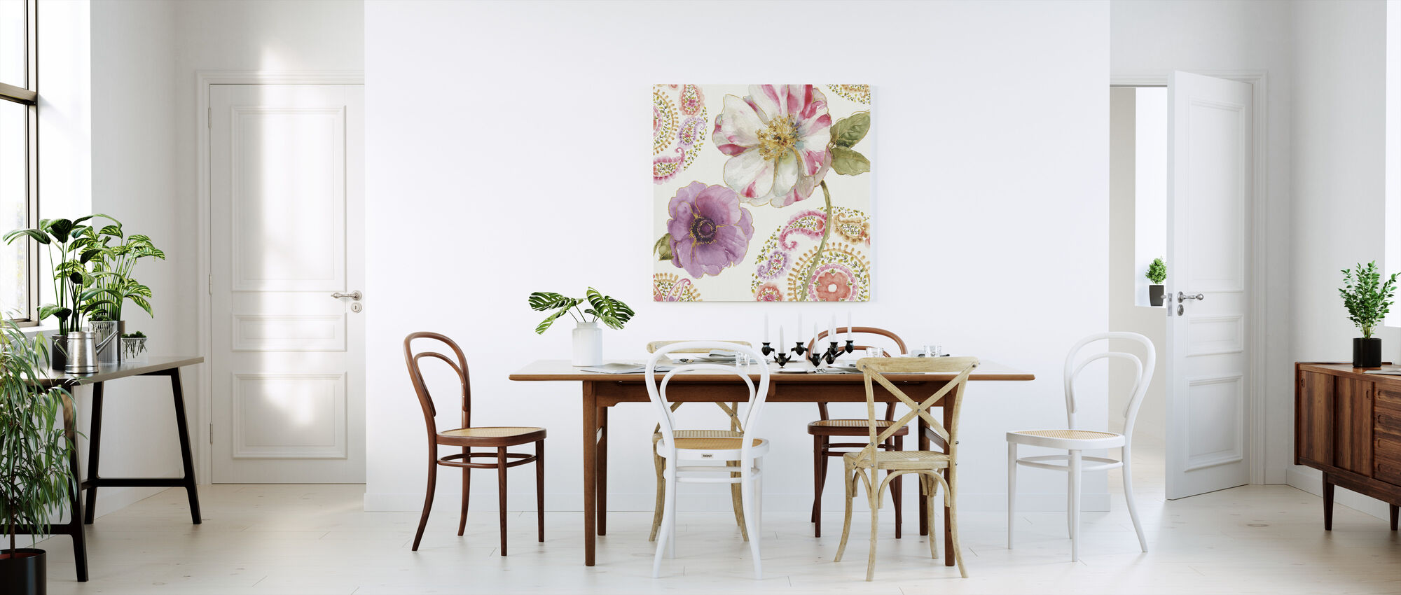 Regenboog Zaden Paisley 1 - Canvas print - Keuken