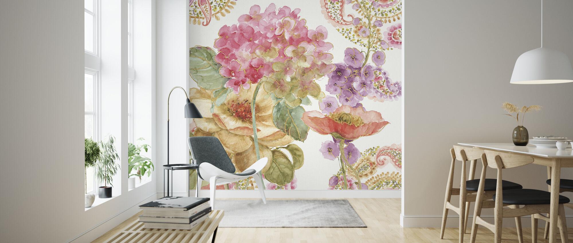 Regenboog Zaden Paisley 2 - Behang - Woonkamer