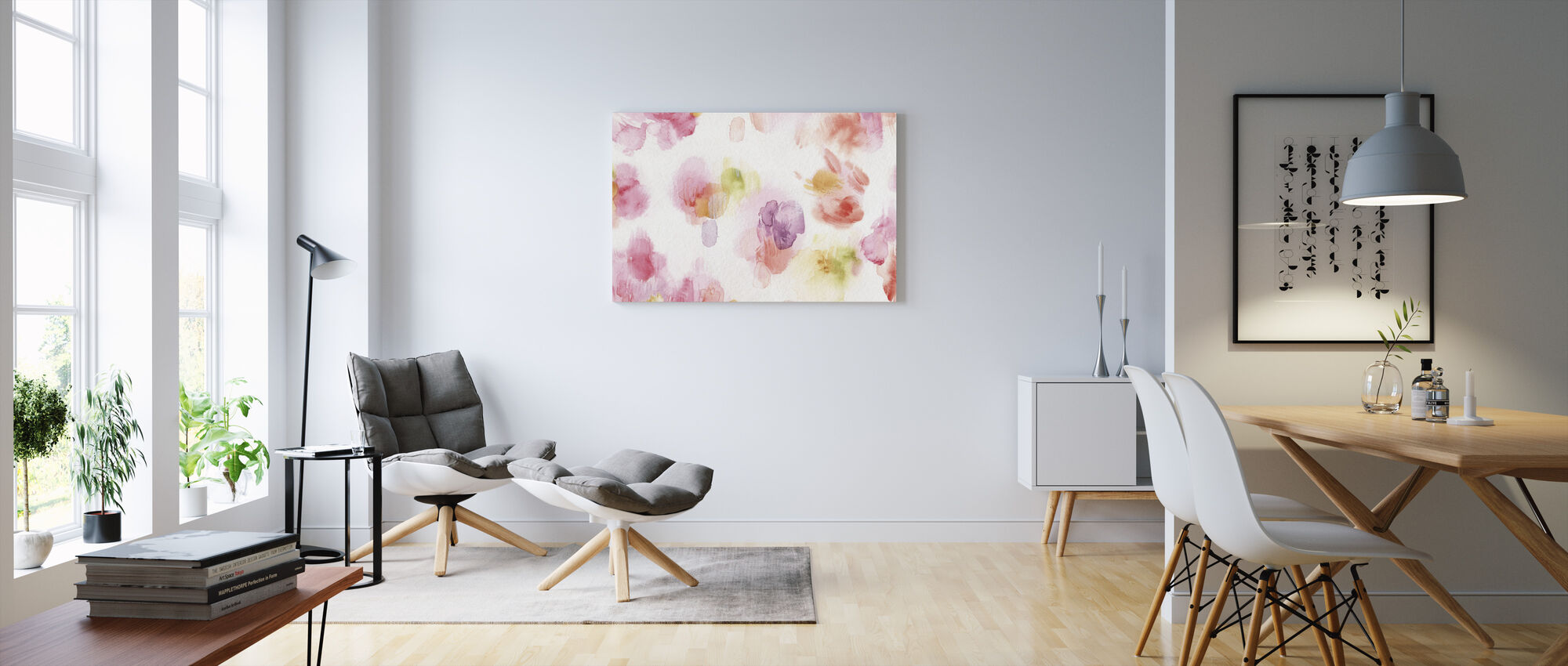 Watercolor Petals - Canvas print - Living Room