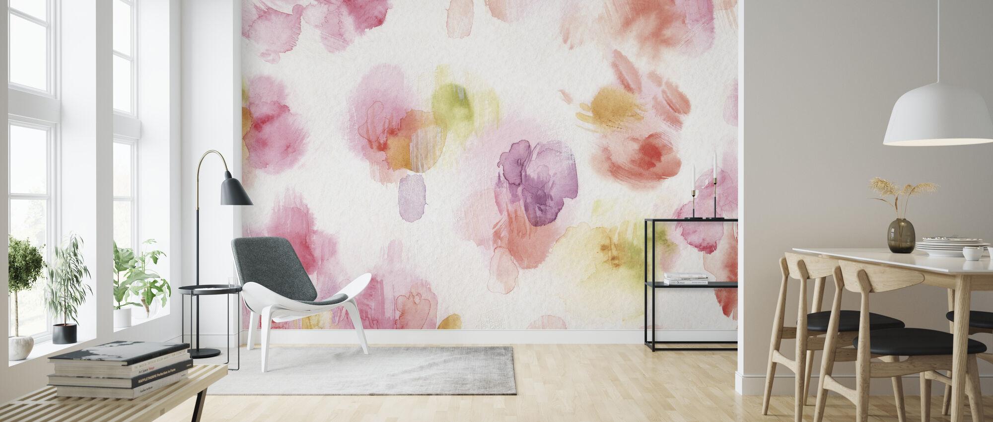 Watercolor Petals - Wallpaper - Living Room