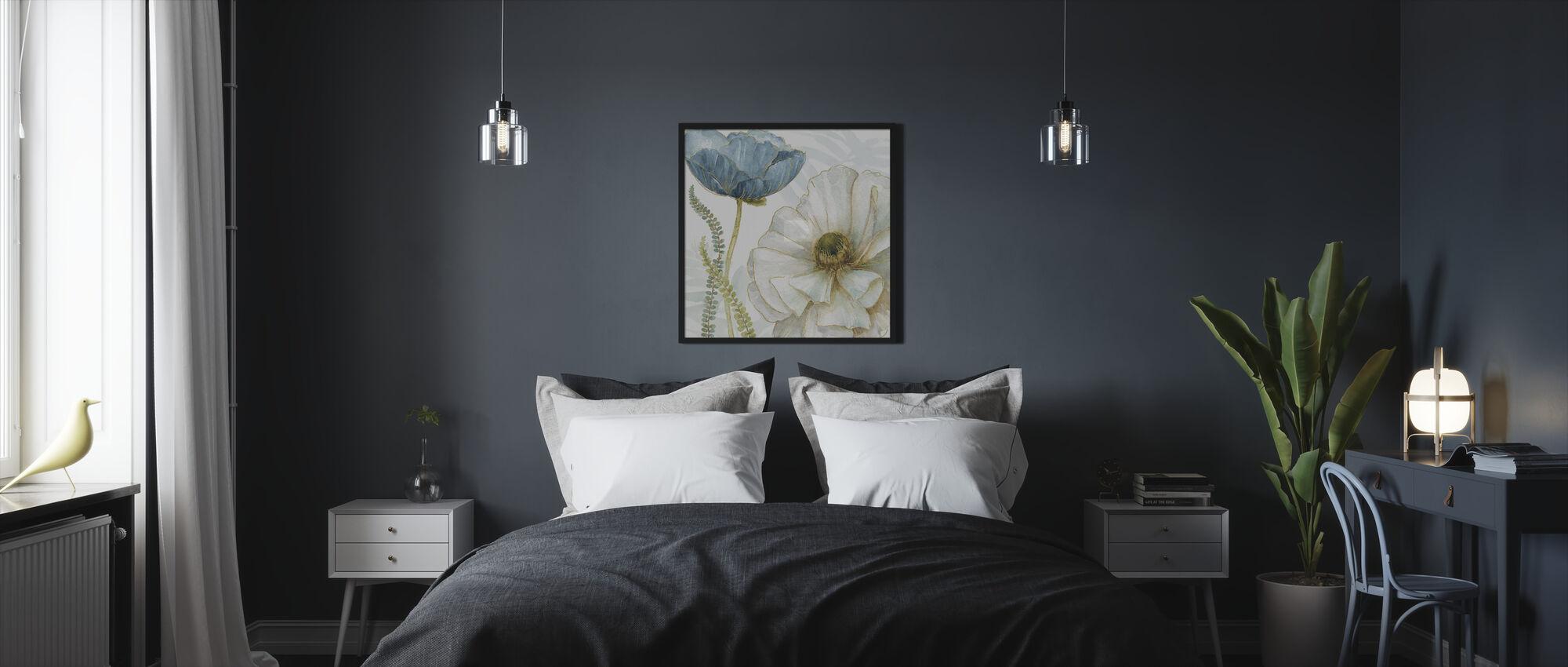 Valkoinen Unikko - Kehystetty kuva - Makuuhuone