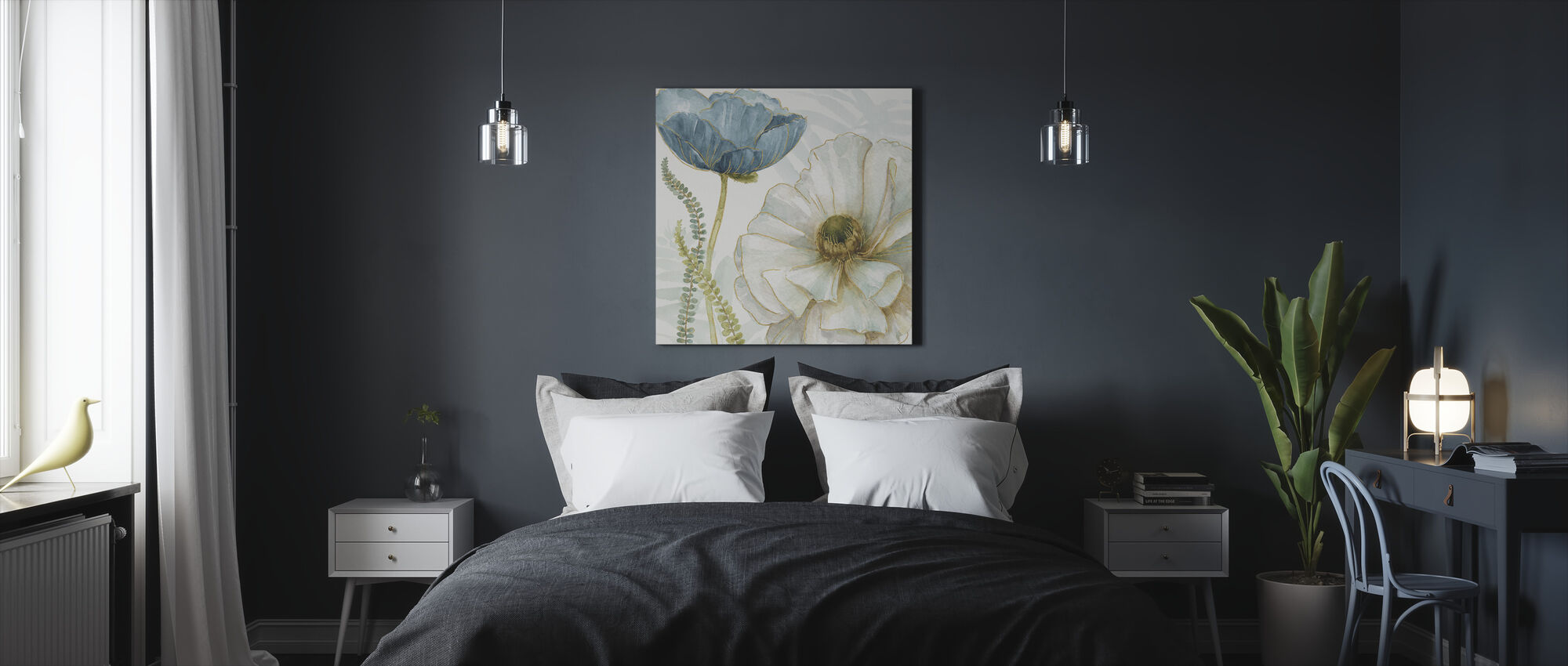 White Poppy - Canvas print - Bedroom
