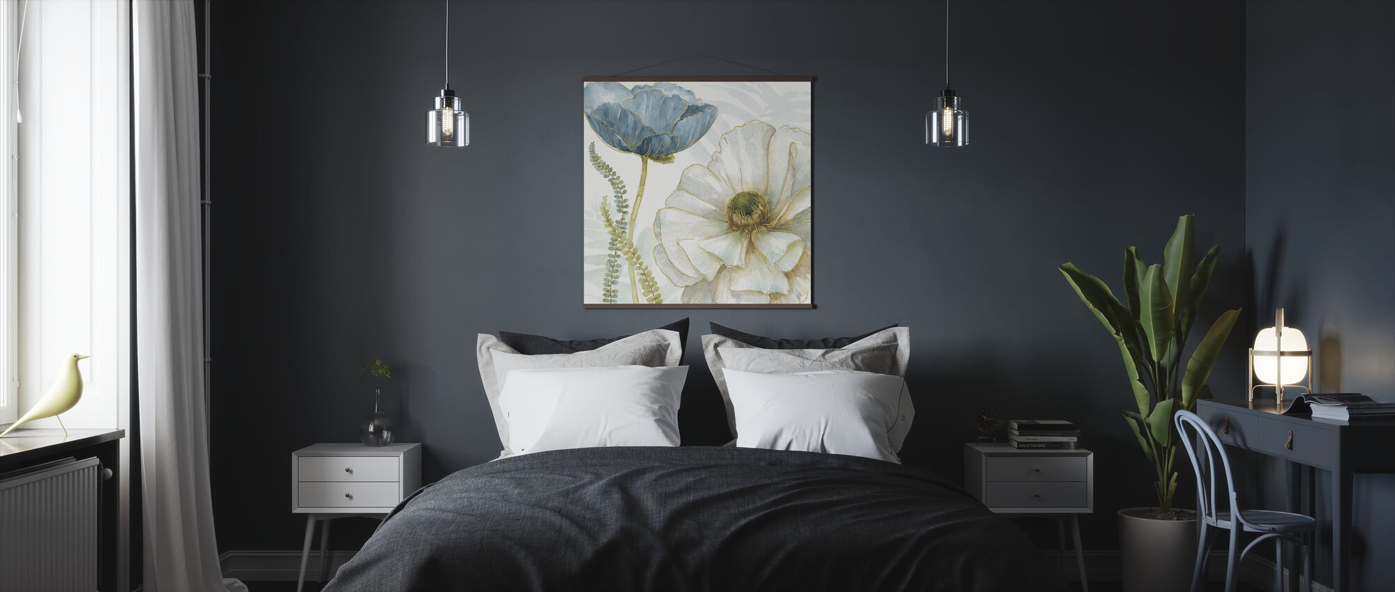 White Poppy - Poster - Bedroom