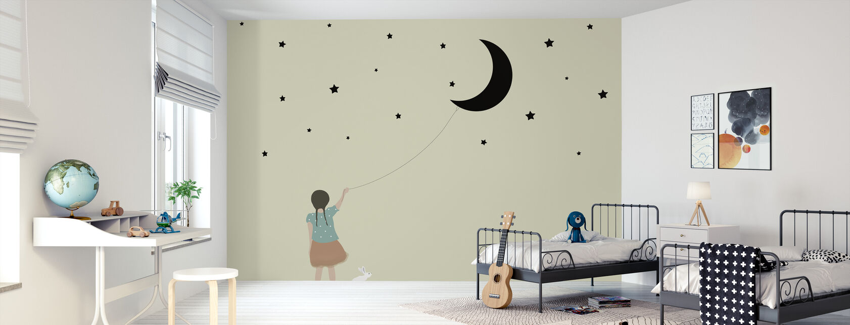 Stars and moon - Wallpaper - Kids Room