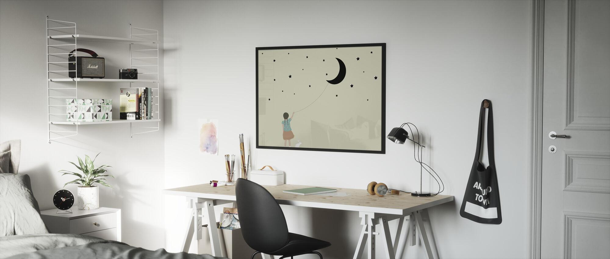 Stars and moon - Framed print - Kids Room