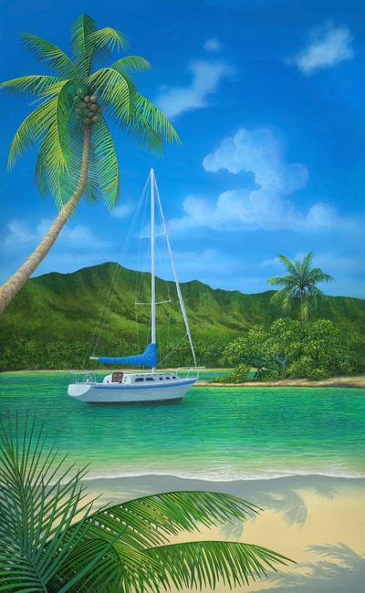 Kuva A Place in Paradise Tapetit / tapetti 100 x 100 cm