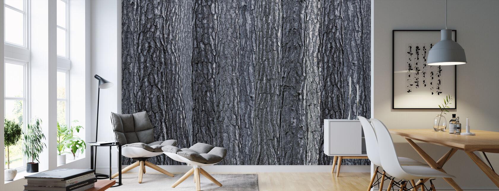 Svart Blå Bark - Tapet - Vardagsrum