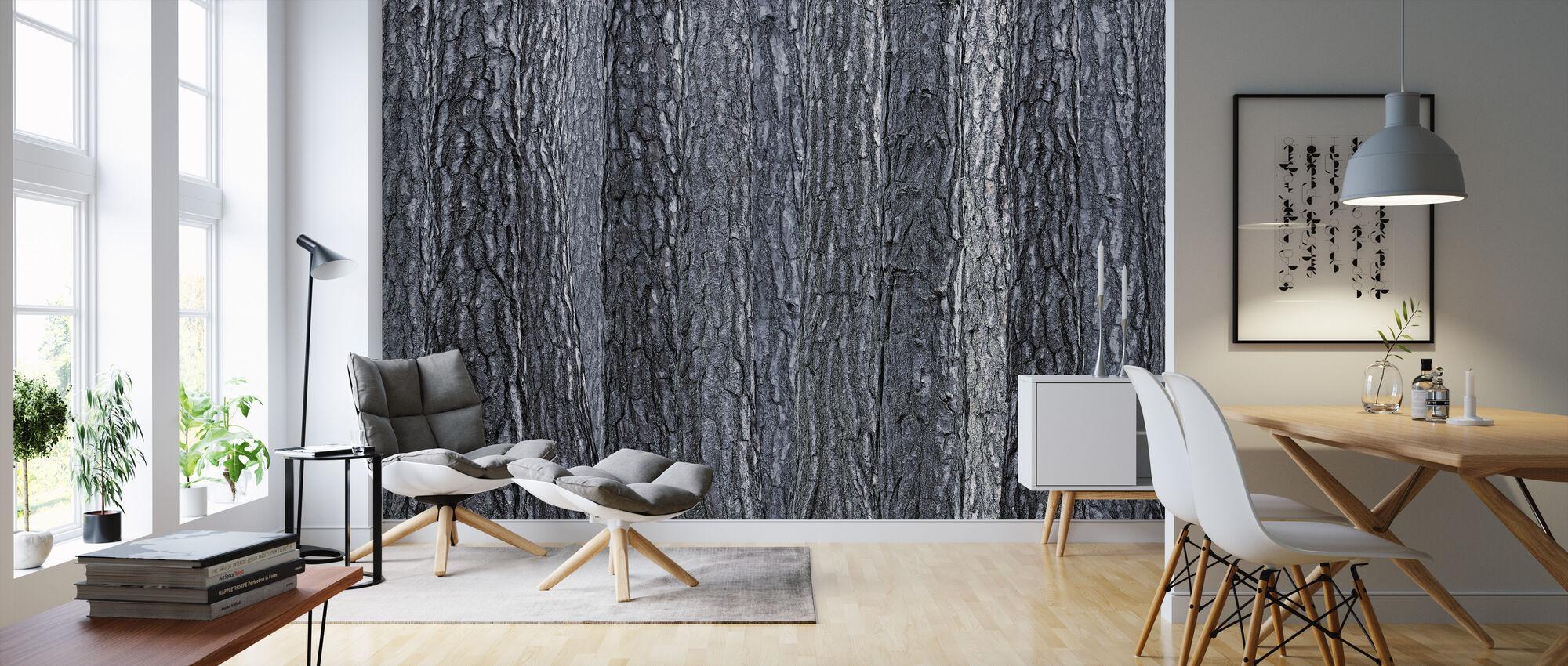 Black Blue Bark - Wallpaper - Living Room