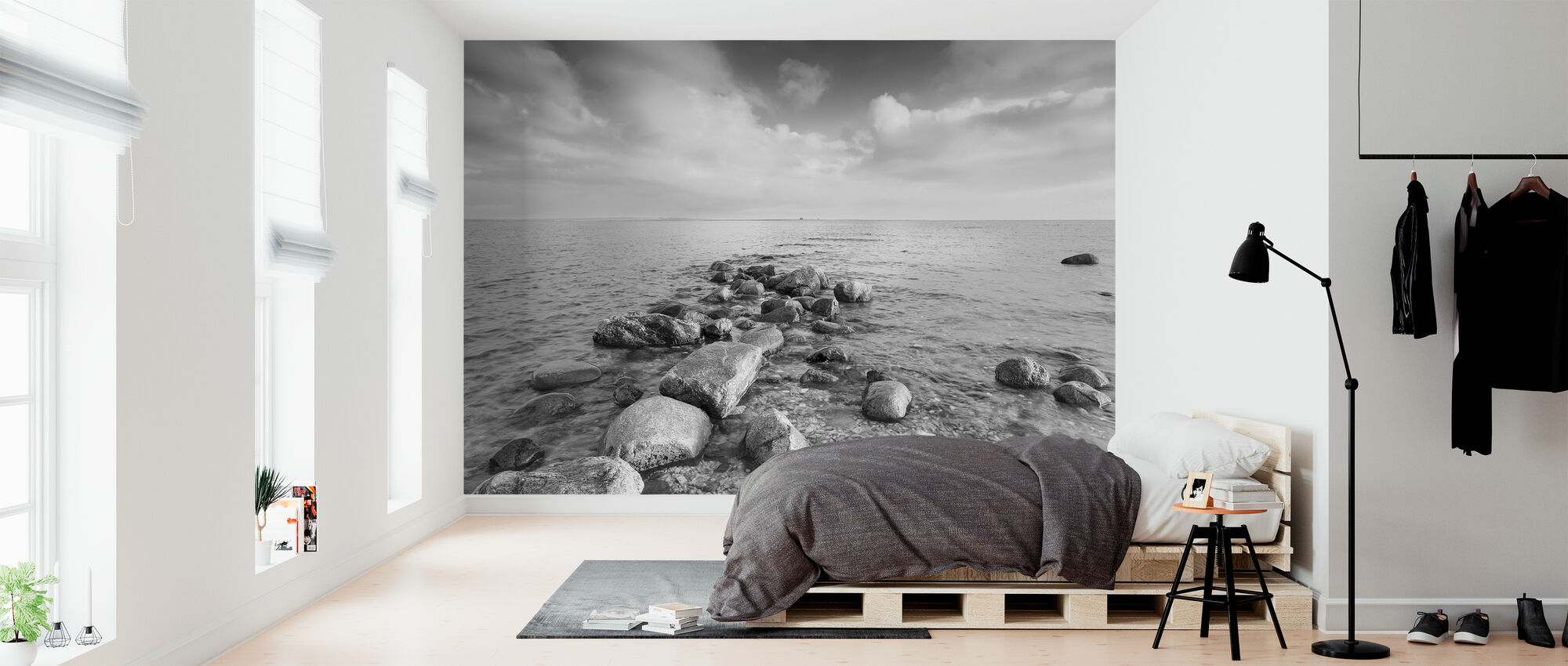Black and White Sea - Wallpaper - Bedroom