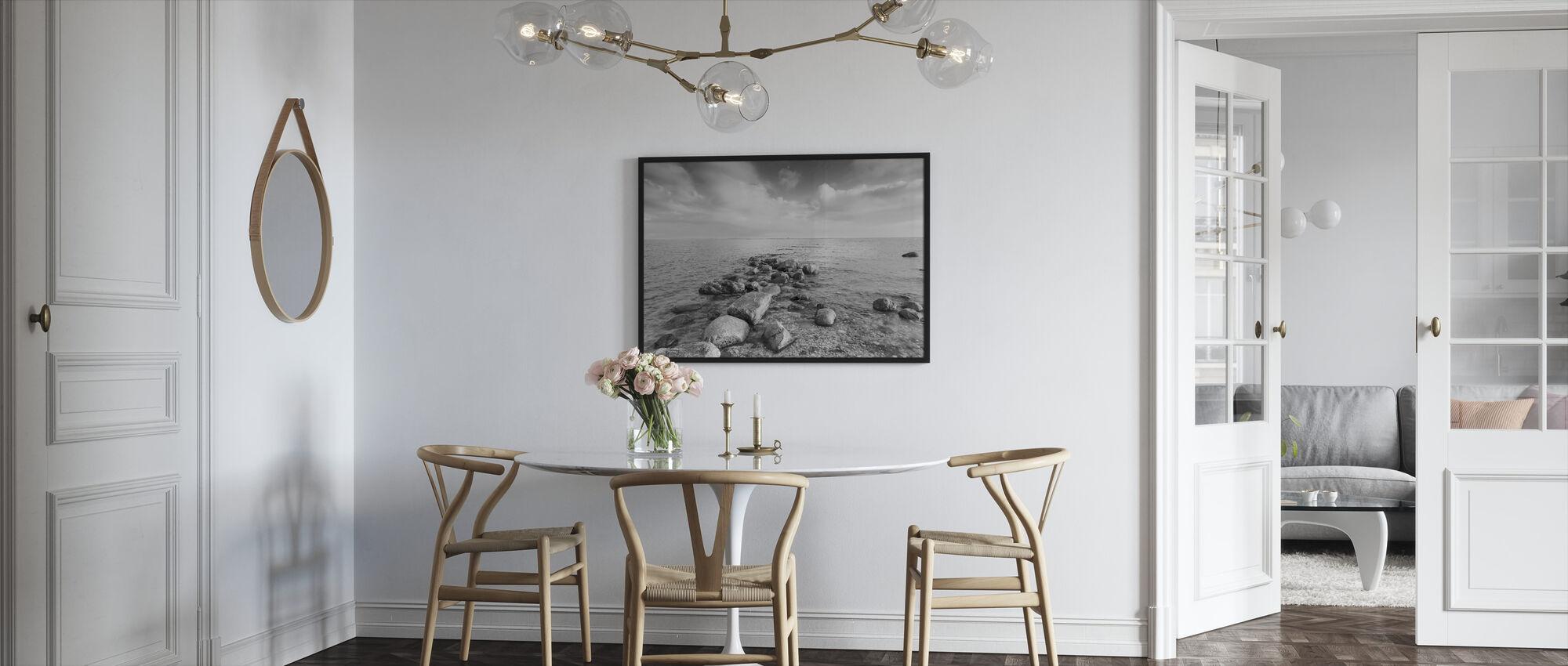 Musta ja Valkoinen meri - Kehystetty kuva - Keittiö