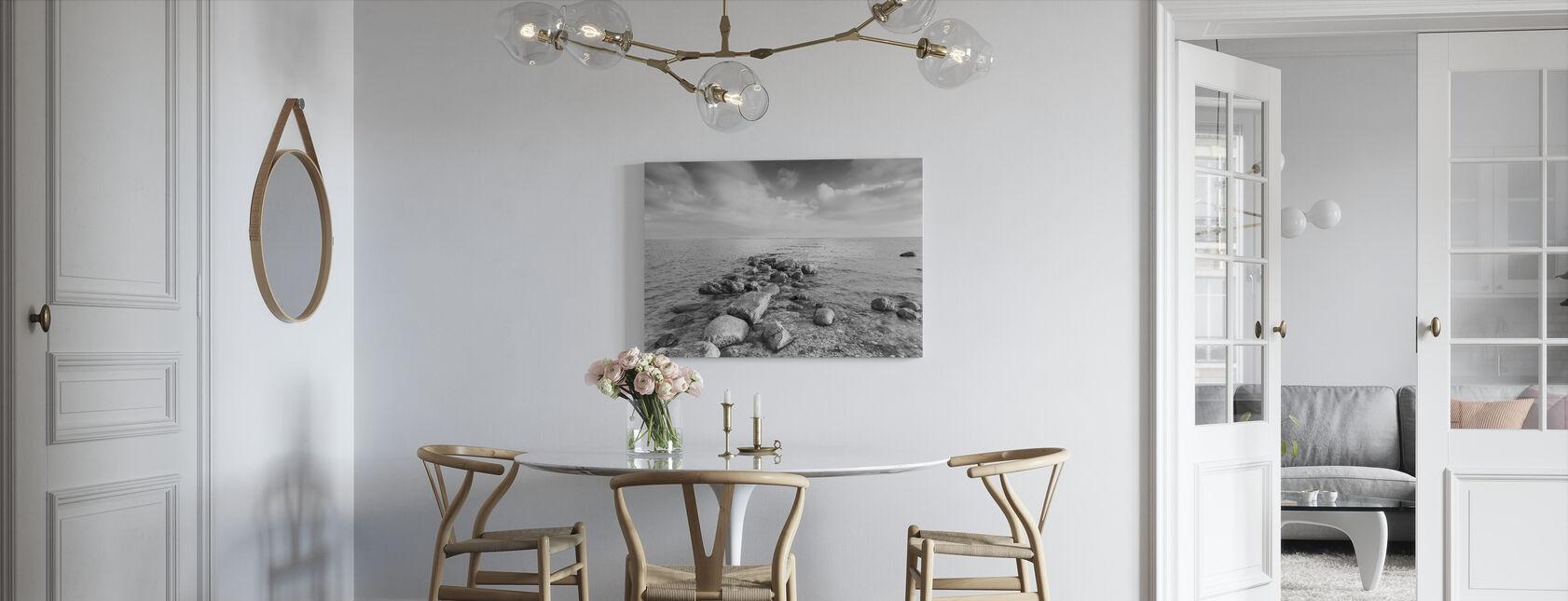 Musta ja Valkoinen meri - Canvastaulu - Keittiö