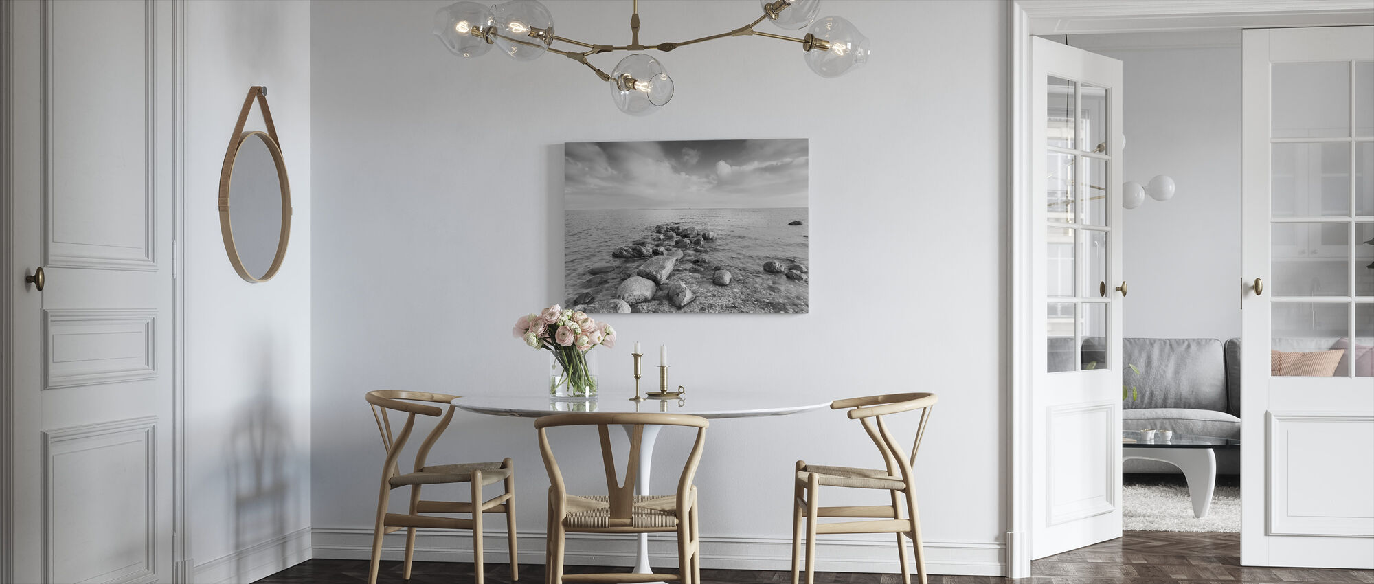 Black and White Sea - Canvas print - Kitchen