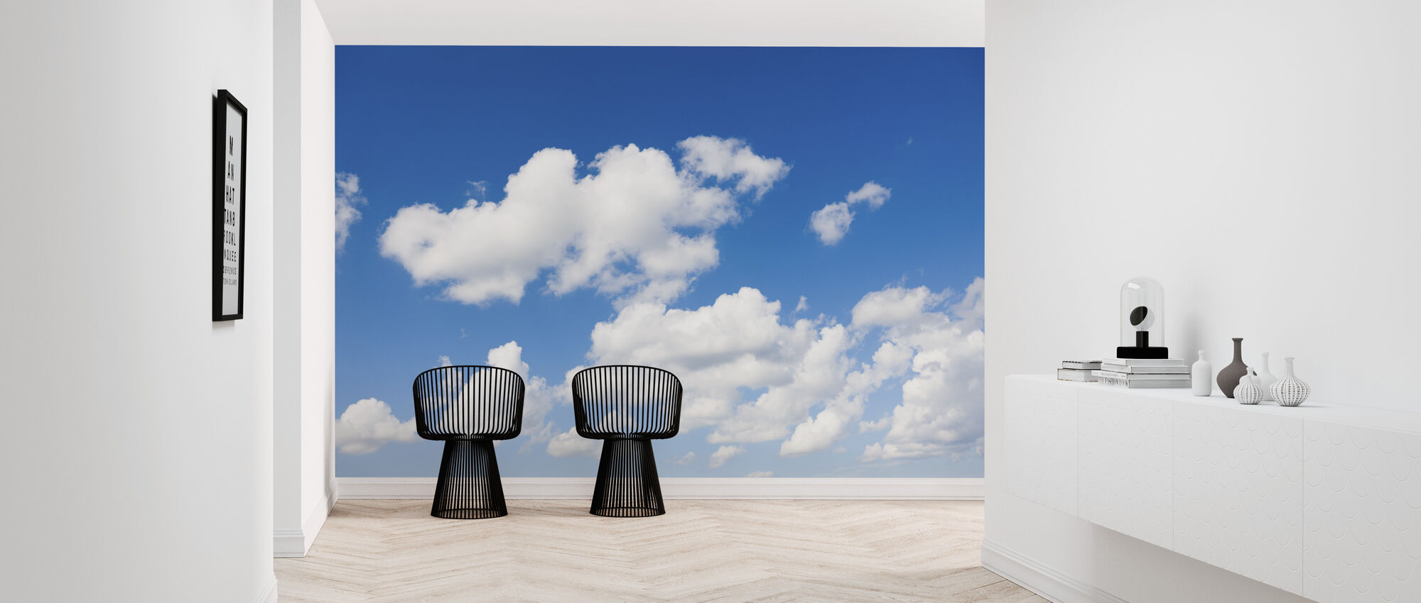 White Clouds in the Blue Sky - Wallpaper - Hallway