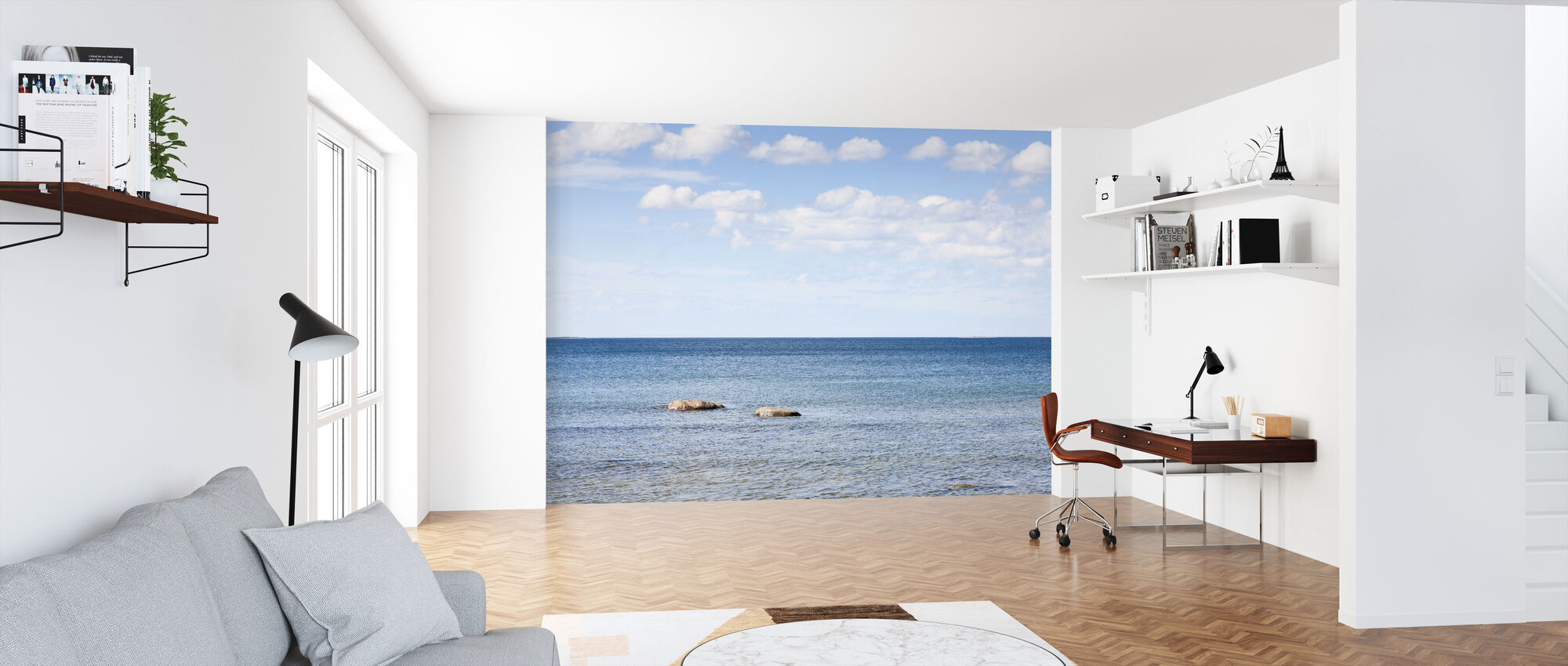 Skyer og hav - Tapet - Kontor