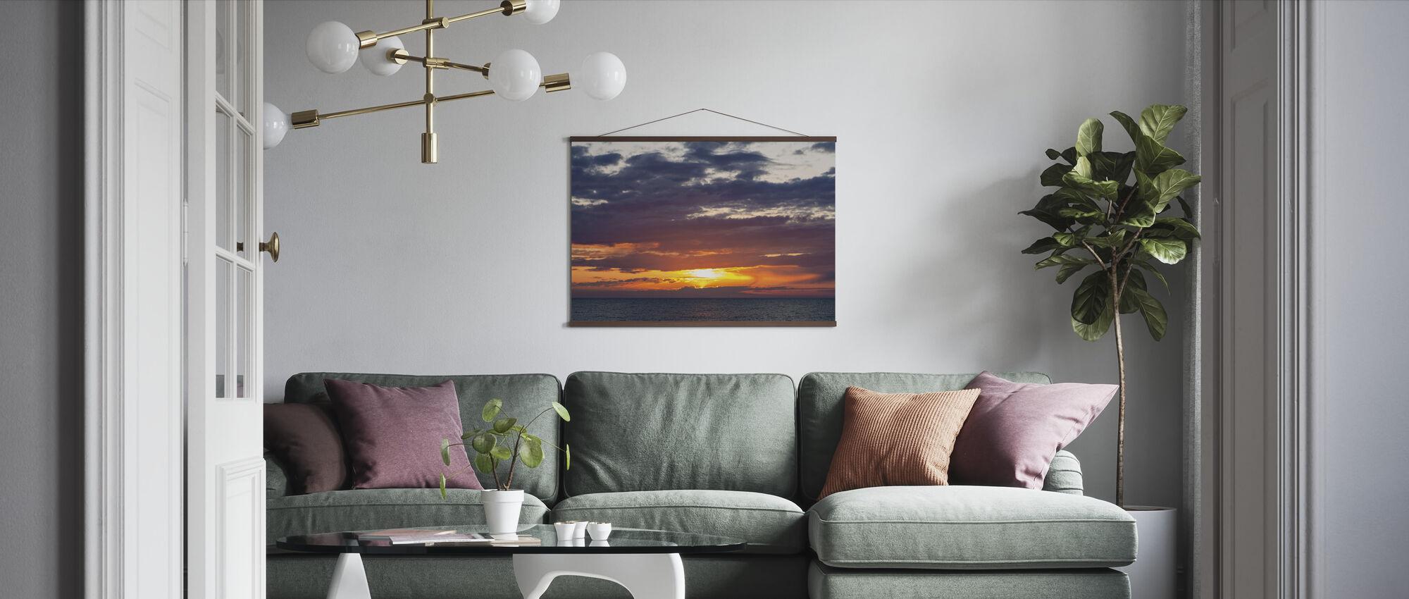 Evening Sky - Poster - Living Room