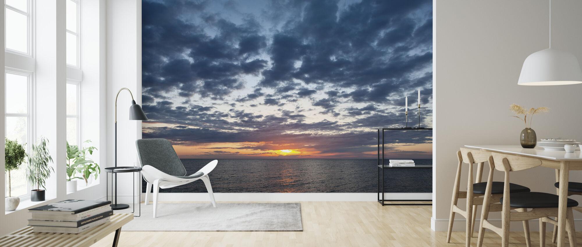 Solnedgang - Tapet - Stue