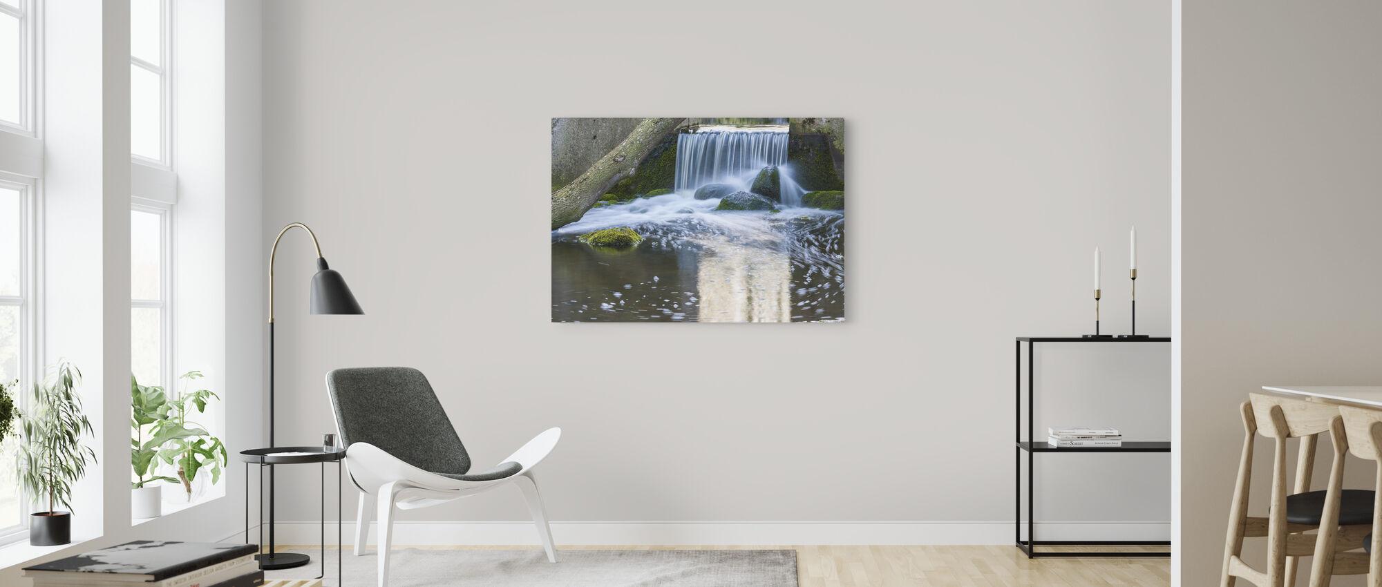 Vattenvägg - Canvastavla - Vardagsrum