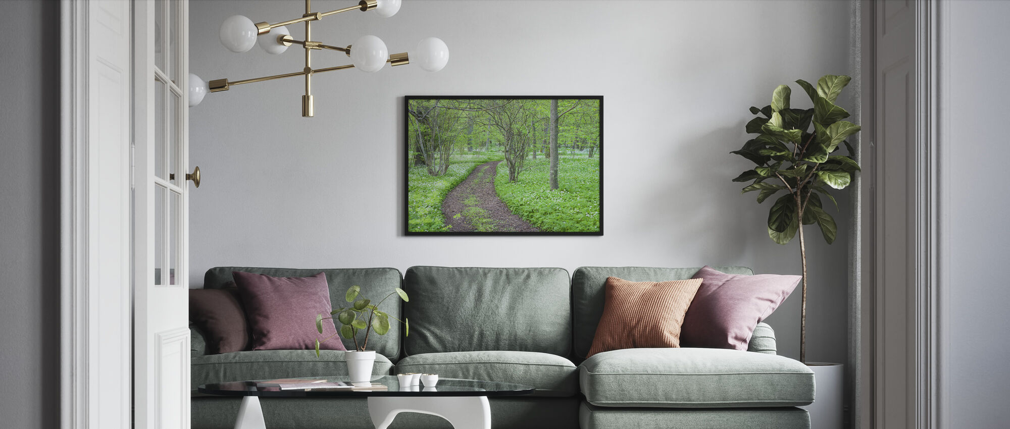Green Park - Framed print - Living Room